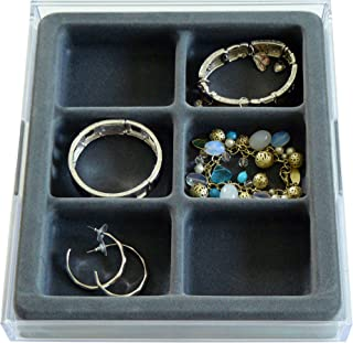 Good Cushion Watches, Bracelets and Large Earring Jewelry Organizer with Velvet Tray, US Patented