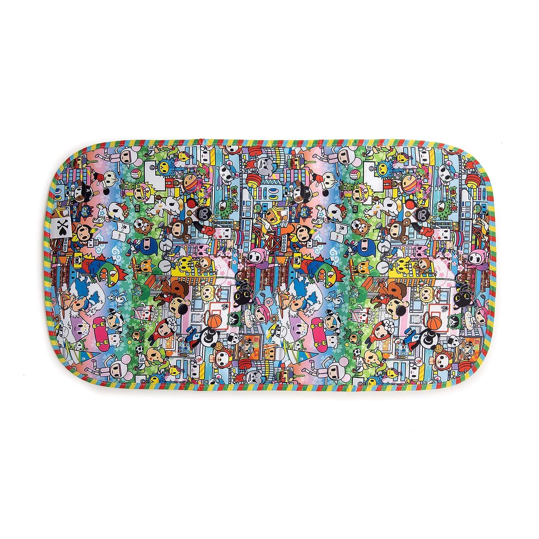 JuJuBe   Lightweight Folding Memory Foam Diaper Changing Pad   Travel-Friendly, Portable, Machine Washable   Tokidoki   Team Toki