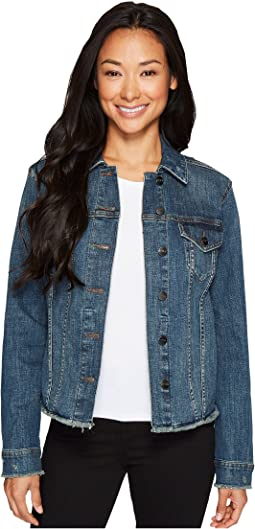 Denim Jacket w/ Frayed Hem