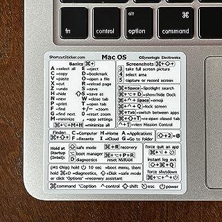 "SYNERLOGIC (M1+Intel) Mac OS (Big Sur/Catalina/Mojave) Reference Keyboard Shortcut Vinyl Sticker for 13""-16"" MacBook Air/P..."
