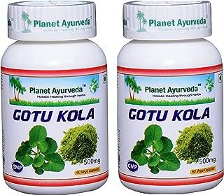 Planet Ayurveda Gotu Kola, 500mg Veg Capsules - 2 Bottles