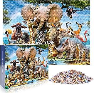 "1000 Piece Jigsaw Puzzle Multi, Animal World 27.56"" x 19.69"""