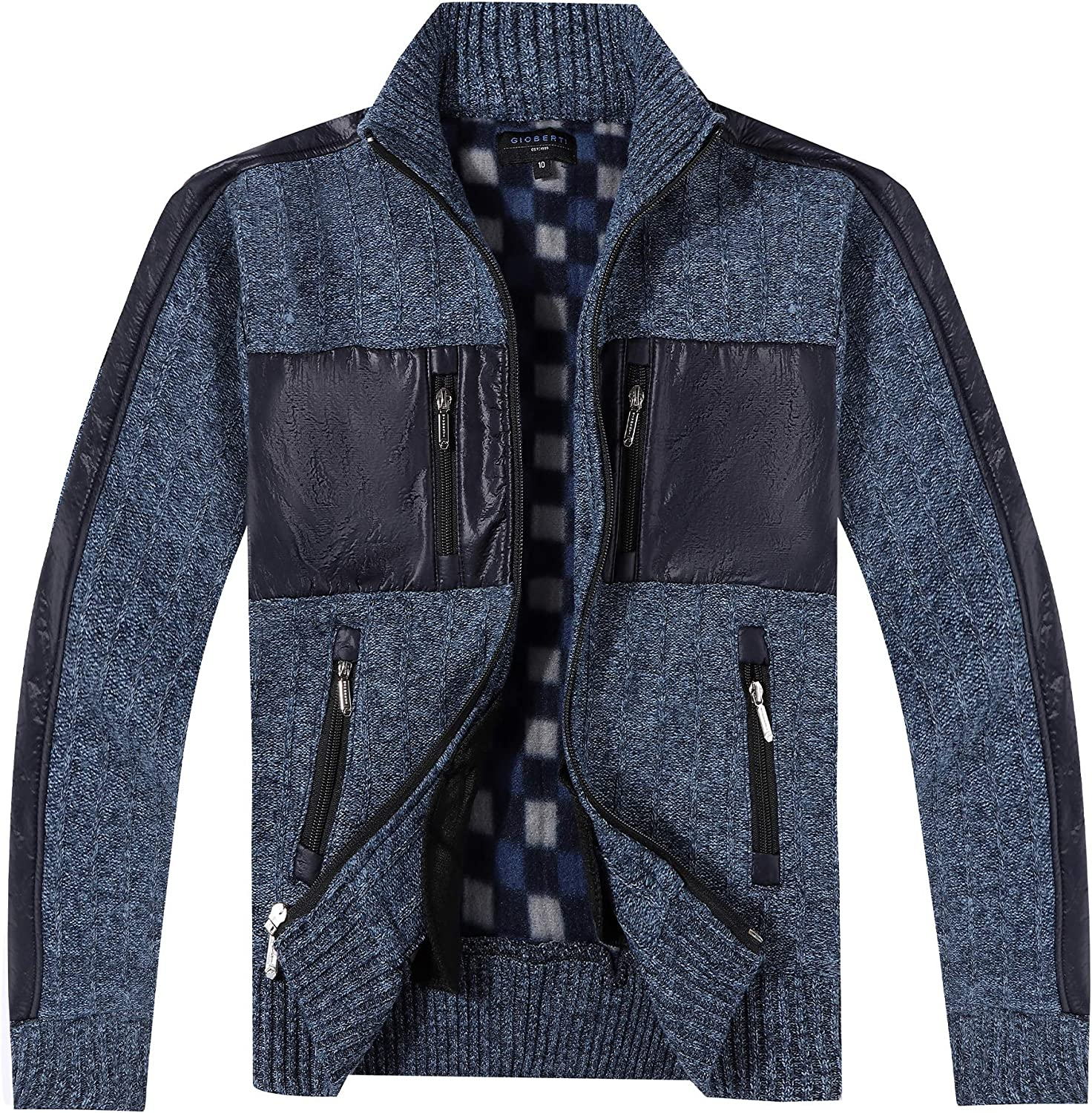 Gioberti Kids and Boys Full Zip Patch Design wi Excellence Cardigan Sweater Ultra-Cheap Deals