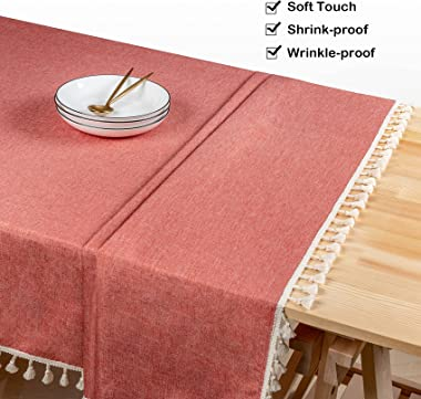 ZSASU Rectangle Tablecloth, Polyester Waterproof Wrinkle Free Table Cloth, Table Cover Decoration for Kitchen Dinning Hallowe
