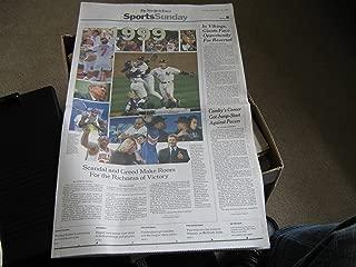 Giants- Ravens Super Bowl The New York Times (Baltimore Ravens vs. New York Giants for the NFL Championship & the Vince Lombardi Trophy, January 26, 2001 & January 28 , 2001)