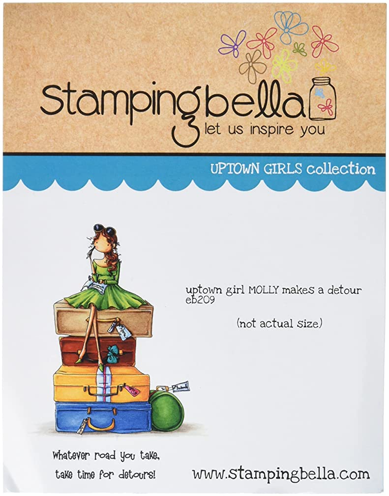 Stamping Bella Uptown Girl Molly Makes A Detour Cling Rubber Stamp, 6.5 x 4.5