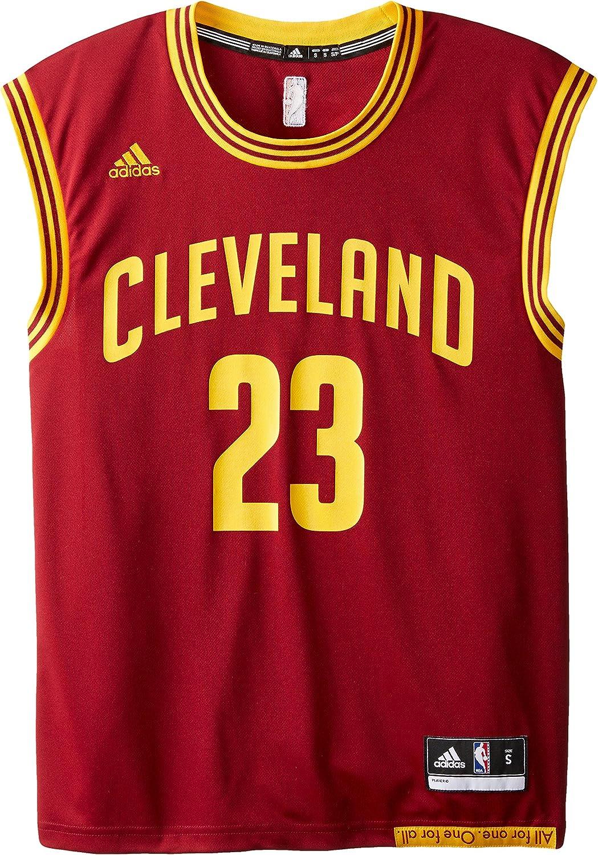 adidas Réplica de Camiseta de Cleveland Cavaliers de la NBA, con Dorsal 23 de Lebron James, para Hombre