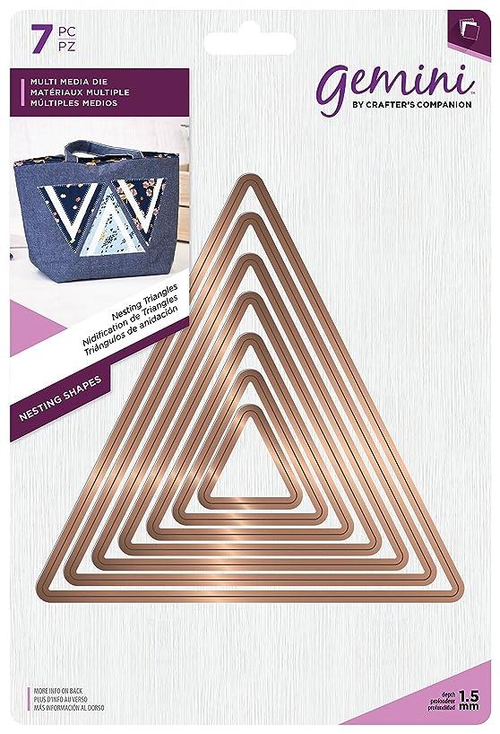Gemini Multi Media Die-Nesting Triangles, Metal, Gold, 24.6 x 16.8 x 4.8 cm
