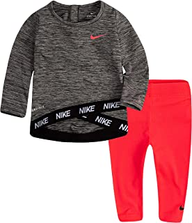 Nike Baby Girls' Long Sleeve Top and Leggings 2-Piece Outfit Set