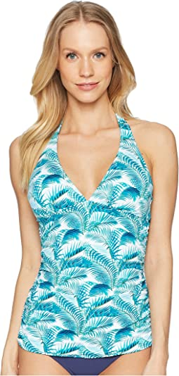 Among Fronds Reversible Halter Tankini