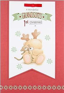 Hallmark Medium Forever Friends 'for Grandson' 1st Christmas Card