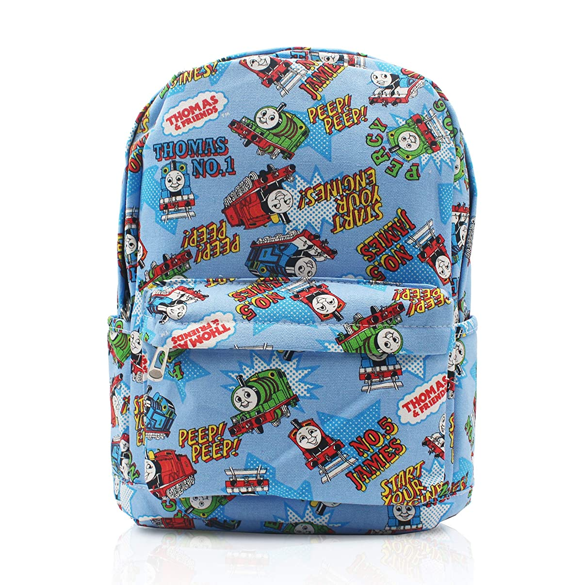 Finex Thomas The Train & Friends Blue Canvas Cute Cartoon Casual Backpack with 15 inch Laptop Storage Compartment Daypack Travel Snack Sport Bag Gift