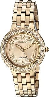 Citizen Women's 'Eco-Drive' Quartz Stainless Steel Casual Watch, Color:Gold-Toned (Model: FE2082-51P)