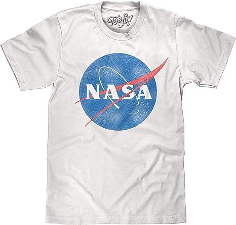Tee Luv Distressed NASA Shirt - Vintage NASA Meatball Logo T-Shirt