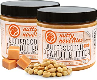 Nutty Novelties Butterscotch Peanut Butter - High Protein, Low Sugar Healthy Peanut Butter - All-Natural Peanut Butter Free of Cholesterol, Preservatives & Salt - Creamy Peanut Butter - 30 Ounces