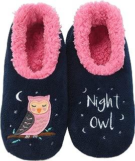 Womens Classic Splitz Applique Slipper Socks | Womens Slipper Socks | Womens House Slipper Socks | Cozy Slippers for Women | Multiple Styles and Sizes
