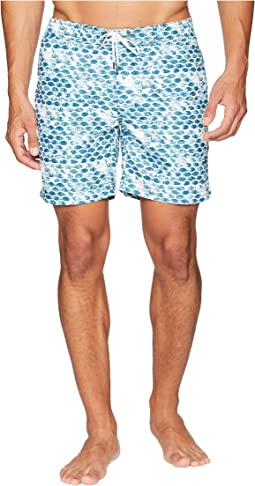 onia Alek 7 Shell Stamp Swim Trunk
