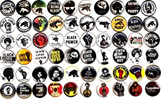 """Black Panther Party Set of 60 New 1"""" Inch (25mm) Pinback Buttons Badges Pins Black Lives Matter Black Power"""