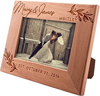 Wedding Picture Frame, Personalized Picture Frame | 4x6 | Flourish Personalized Romantic, Wedding Photo Frame, Engagement,...
