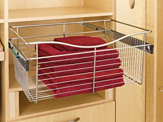 Rev-A-Shelf - CB-181411SN-1 - Satin Nickel Closet Pull-Out Basket