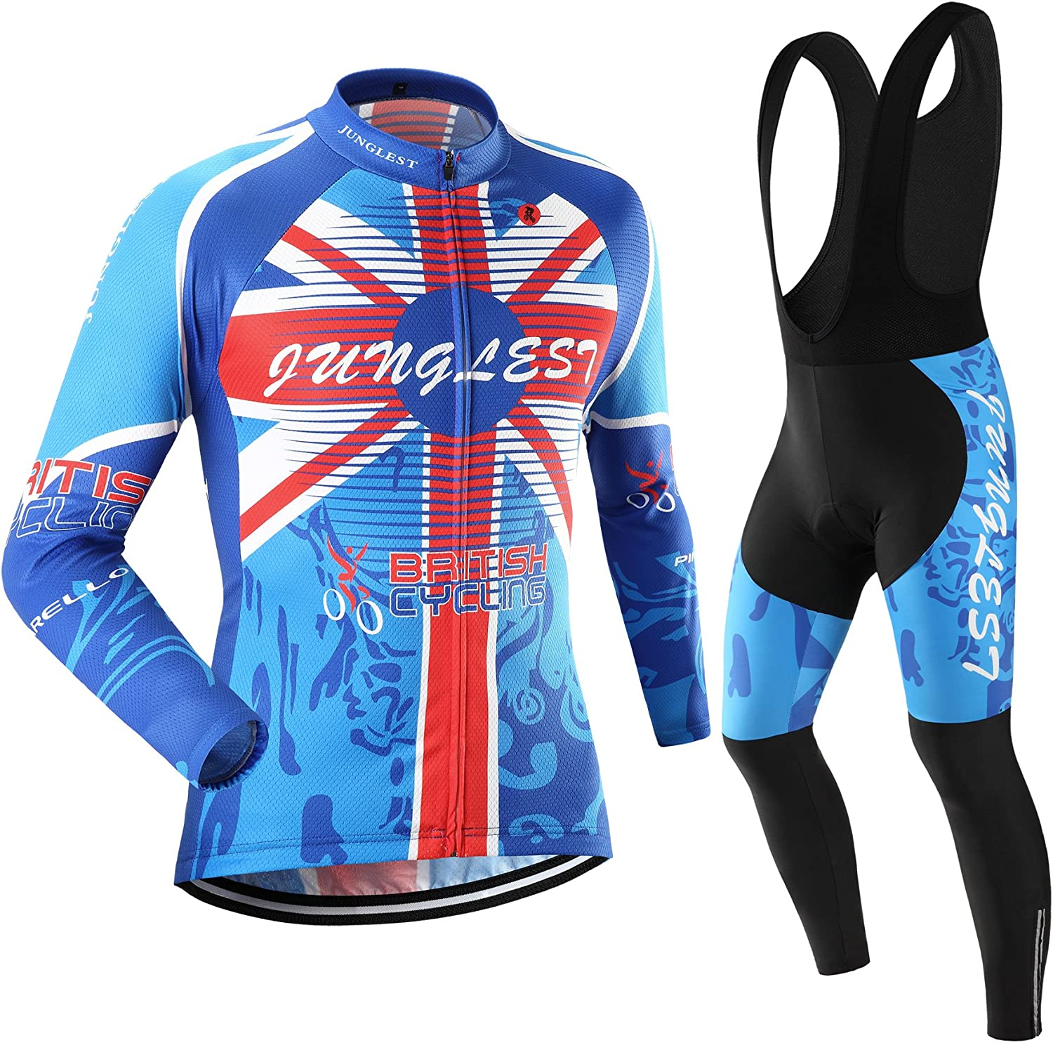 JUNGLEST Cycling Jersey Set Wen Sleeve Department Manufacturer direct delivery store Option:bib S~5XL Long 3D