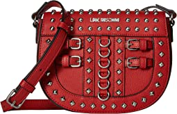Crossbody Bag with Belt Studs