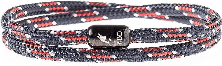 Wind Passion Armband Unisex Maritim Segeltau mit Magnetverschluss für Männer und Frauen
