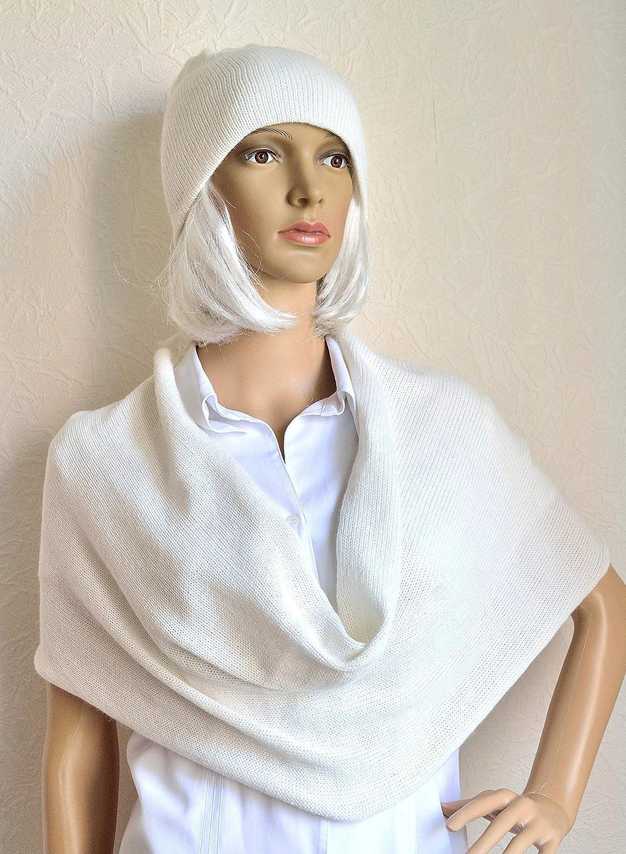 Regular dealer Hand made 100% cashmere women's set hat Milwaukee Mall snood scarf