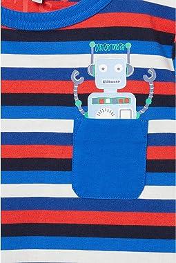 Blue Stripe Robot