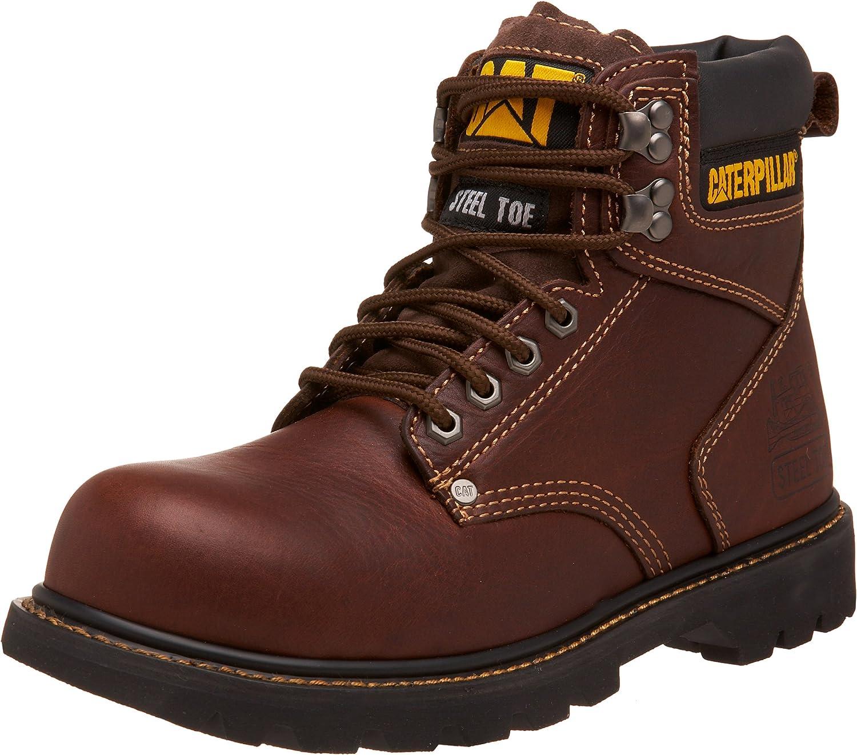 nyA MENS CAT FOOTWEER Tan Tan Tan ANDRA SHIFT STEEL TOE Work Boot skor P89817  kundens första rykte först
