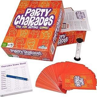Outset Media Party Charades – 500 Charades – 2019 子供 大人 家族 時間用 – 新しい手がかりで楽しいアクションゲーム