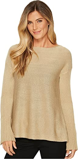 Vince Camuto - Ribbed Bell Sleeve Lurex Sweater