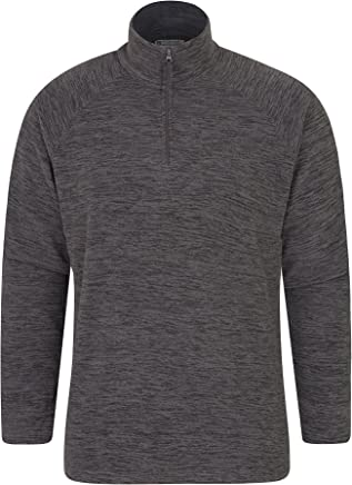 Mountain Warehouse Snowdon Mens Micro Fleece Top - Warm, Breathable, Quick Drying, Zip Collar Fleece Sweater, Soft & Smooth Pullover - for Travelling, Spring Walking