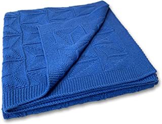Zeke and Zoey Soft 100% Cotton Knit Baby Blanket for Girls or Boys – Unisex, for Infant, Newborn, Toddler and Kids for cot...