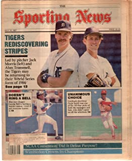 The Sporting News Newspaper July 13, 1987 Rediscovering Stripes Morris Trammell GOOD