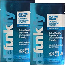 Defunkify Active Wash Laundry Detergent Powder, All Natural, Plant-Based, Enzyme Cleaner, Active Wear Odor and Stain Remover, Free and Clear, Unscented and Safe for All Ages - 1 Load - 2 Packs