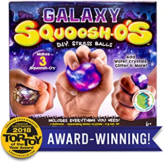 Squoosh-Os Galaxy Squoosh-O'S D.I.Y. Stress Ball by Horizon Group USA, Make 3 Squeezing DIY Stress Relief Balls, Water Bea...
