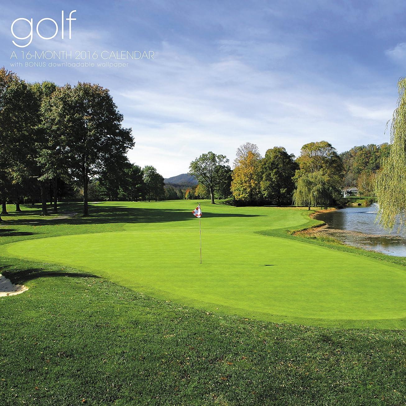 つかむ喜んで前提Golf 2016 Calendar: Includes Bonus Downloadable Wallpaper