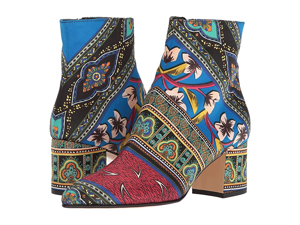 Etro Printed Satin Boot (Multi) Women