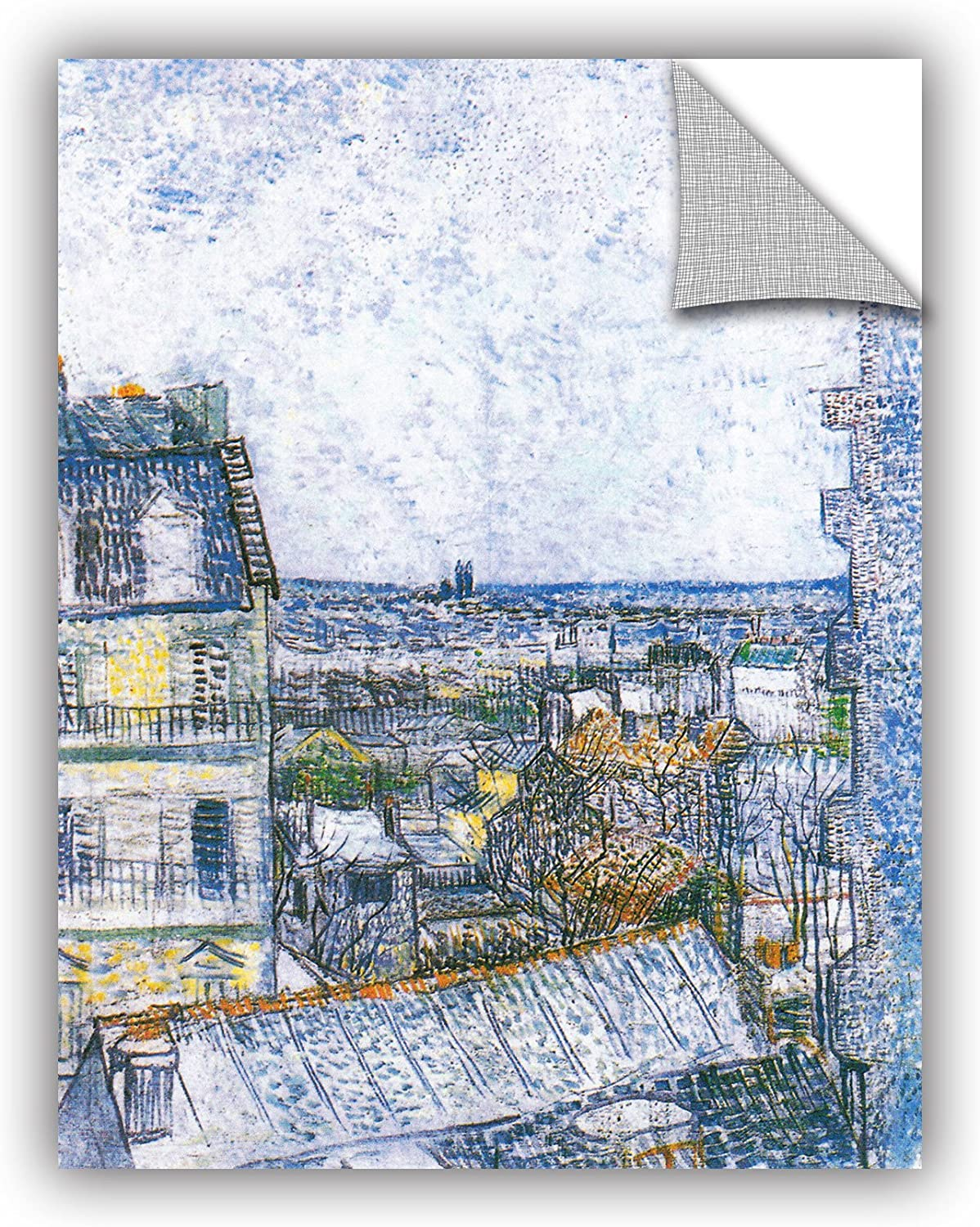 ArtWall Art Appealz Removable Graphic, Vincent Vangogh's Wall Paris from Room, 14 by 18-Inch