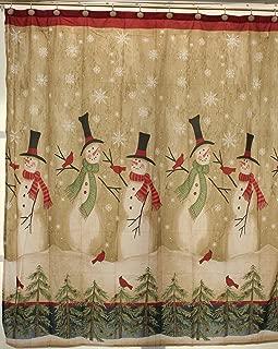 Tall Snowman Shower Curtain