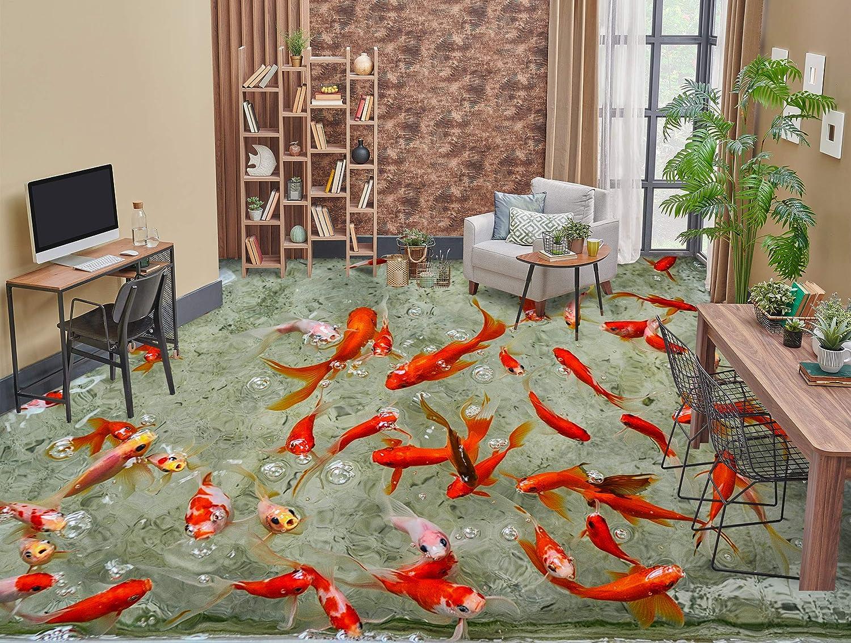 AJ WALLPAPER Our shop OFFers the best service 3D Red Goldfish 3539 Baltimore Mall Wallpaper Pr Wall Murals Floor