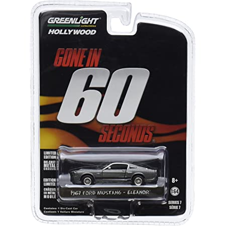 GONE in 60 ELEANOR 1967 Ford Mustang Fastback Diecast Car 1:43 Greenlight 5 inch