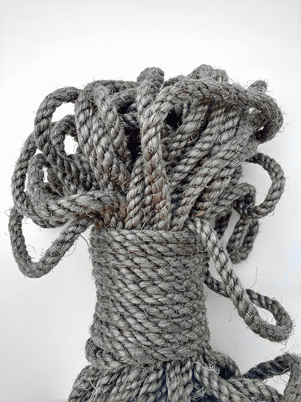Gray Sisal Rope, Silver Sisal Rope, Dyed Pewter Color: 1/4