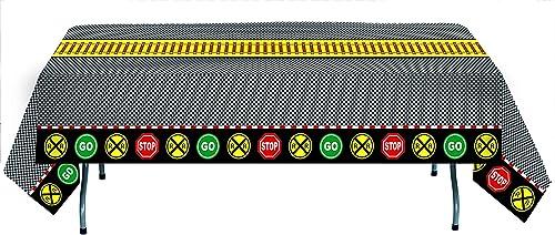fürynicethings Havercamp Einweg-Papiertischdecke, 274 x 137,2 cm, Wasser- und rei st Eisenbahn Zug Party Kollektion