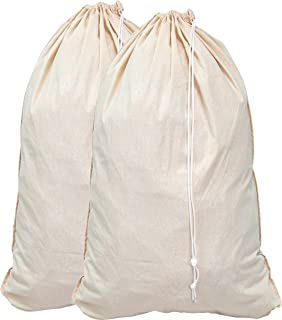 Simple Houseware 2 Pack - Extra Large Natural Cotton Laundry Bag, Beige (28