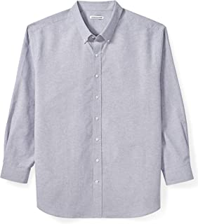 Amazon Essentials Men's Big & Tall Long-Sleeve Oxford Shirt fit by DXL