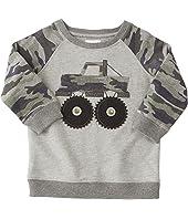 Mud Pie Camo Truck Sweatshirt (Infant/Toddler)
