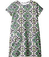 Toobydoo - Green Floral Shift Dress (Toddler/Little Kids/Big Kids)