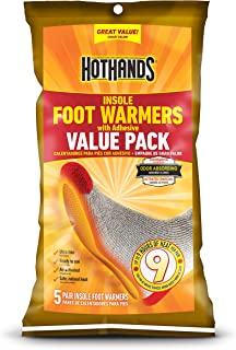 Insole Foot Warmers with Adhesive Value Pack (5-Pairs)
